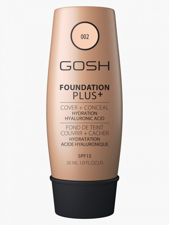 Gosh Foundation Plus with SPF 15 - 30 ml - new