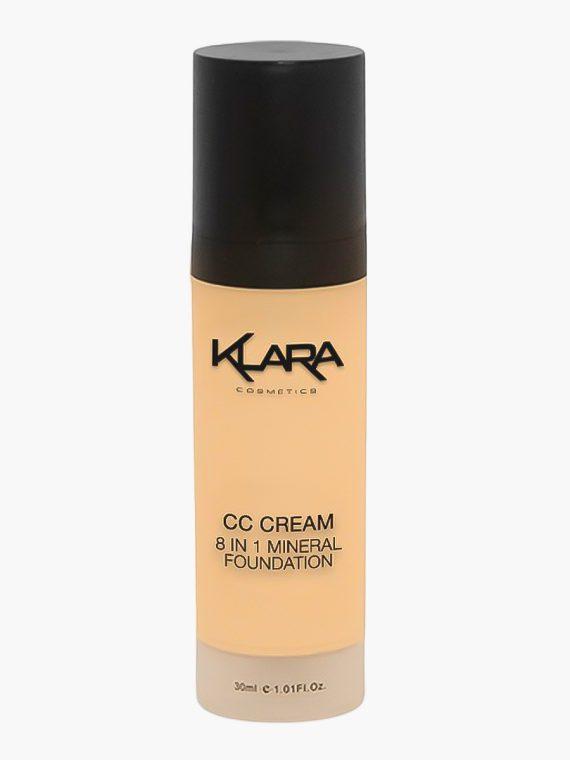 Klara Cosmetics CC Cream 8-in-1 Mineral Foundation - new