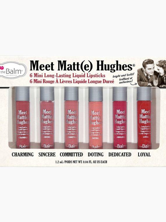 theBalm Meet Matte Hughes Mini Long-Lasting Liquid Lipstick - Set of 6 - new