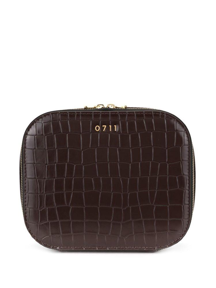 0711 large Ela cosmetic bag - Brown - 0711