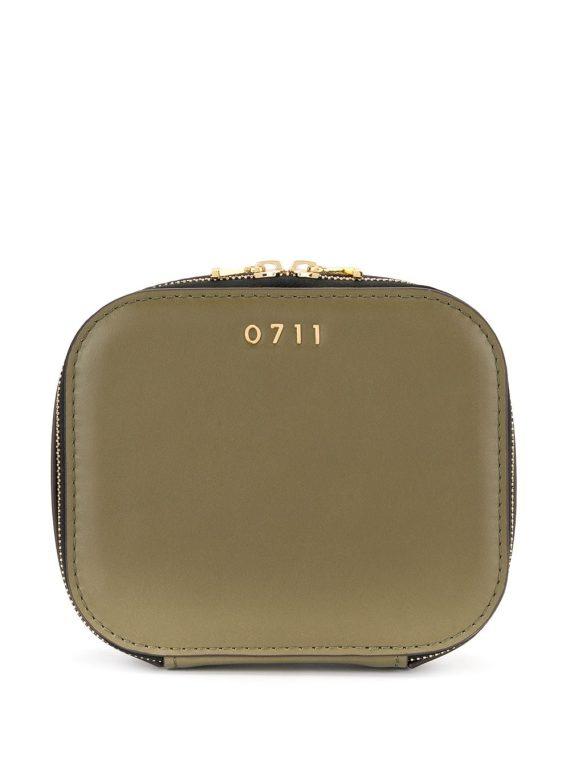 0711 medium Ela cosmetic bag - Green - 0711