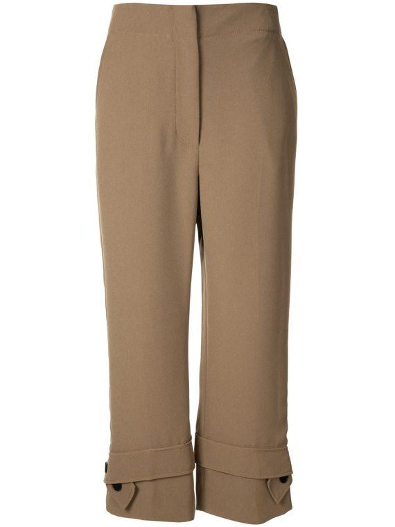 3.1 Phillip Lim belted cuff trousers - Black - 3.1 Phillip Lim