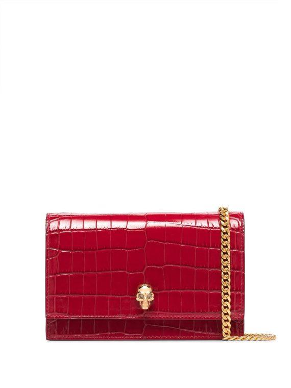 Alexander McQueen skull motif shoulder bag - Red - Alexander McQueen