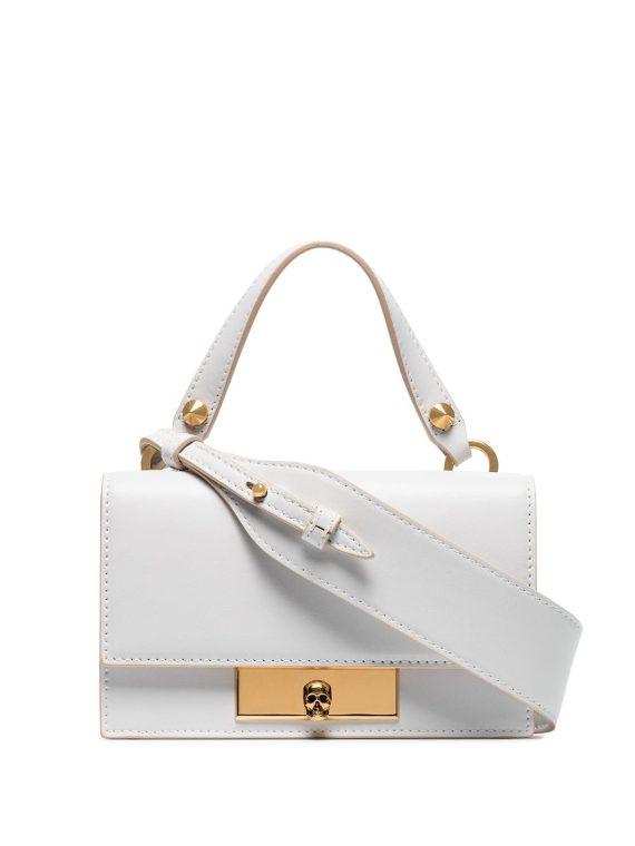 Alexander McQueen small Skull Lock shoulder bag - White - Alexander McQueen