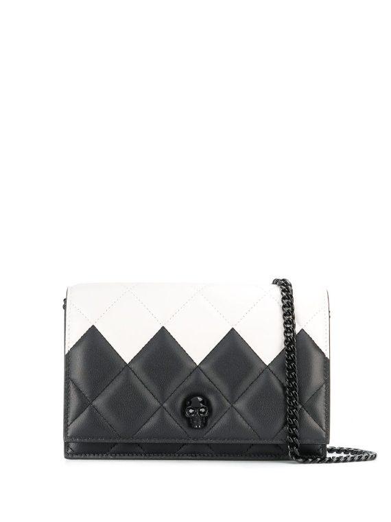 Alexander McQueen two-toned quilted crossbody bag - White - Alexander McQueen