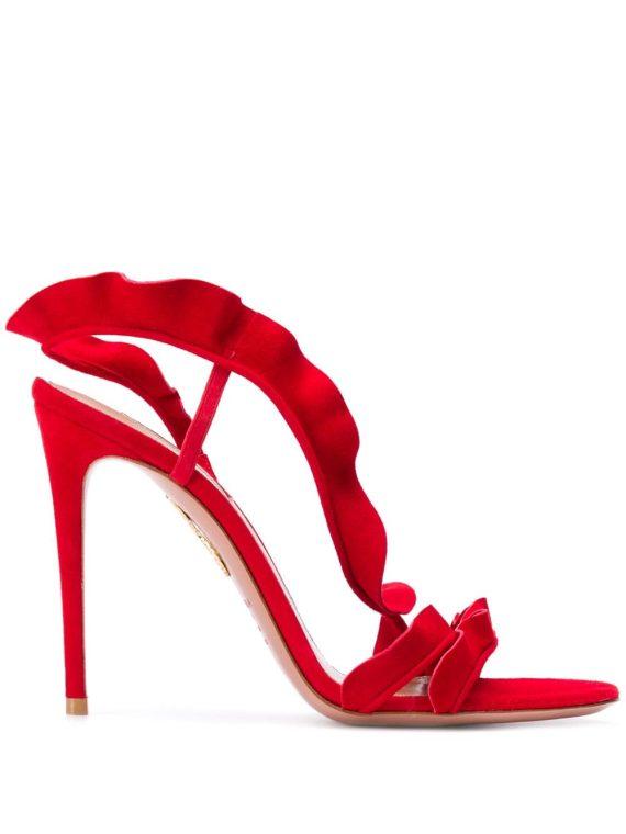 Aquazzura Ruffle 105 sandals - Red - Aquazzura