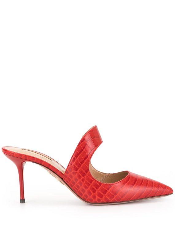 Aquazzura classic pointed mules - Red - Aquazzura