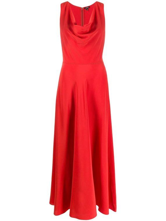 Aspesi flared draped-neck dress - Aspesi