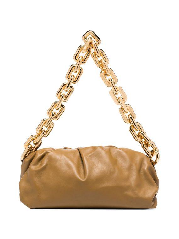 Bottega Veneta The Chain Pouch shoulder bag - Green - Bottega Veneta