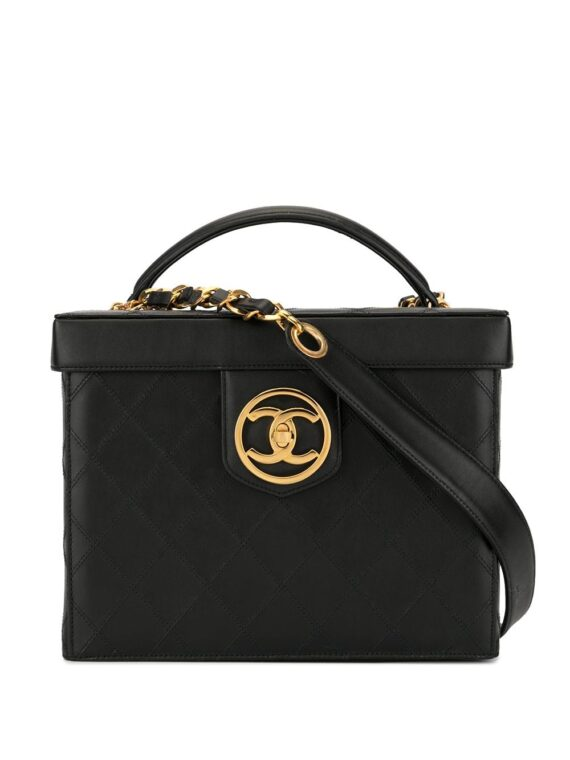 Chanel Pre-Owned Cosmos Line 2way cosmetic bag - Black - Chanel Pre-Owned