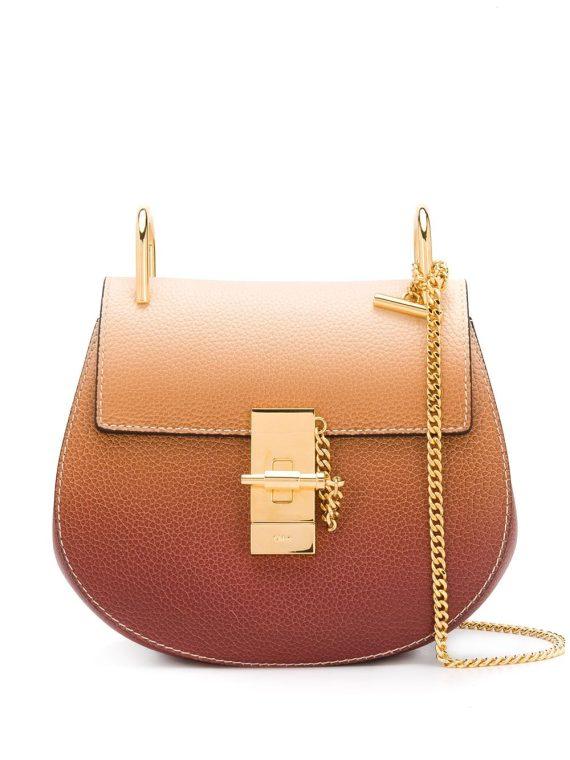 Chloé mini Drew shoulder bag - Brown - Chloé