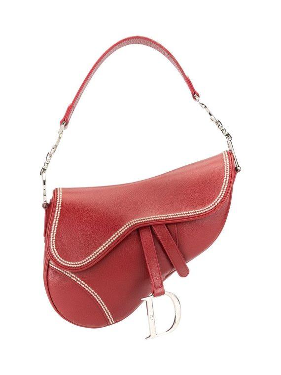 Christian Dior pre-owned Saddle shoulder bag - Red - Christian Dior