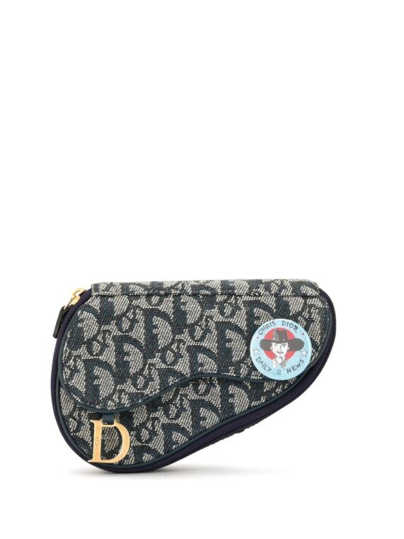 Christian Dior pre-owned Trotter cosmetic pouch - Blue - Christian Dior