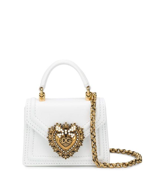 Dolce & Gabbana Devotion micro bag - White - Dolce & Gabbana