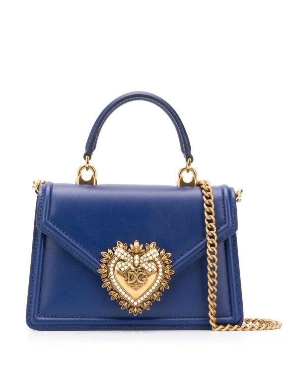 Dolce & Gabbana small Devotion top-handle bag - Blue - Dolce & Gabbana