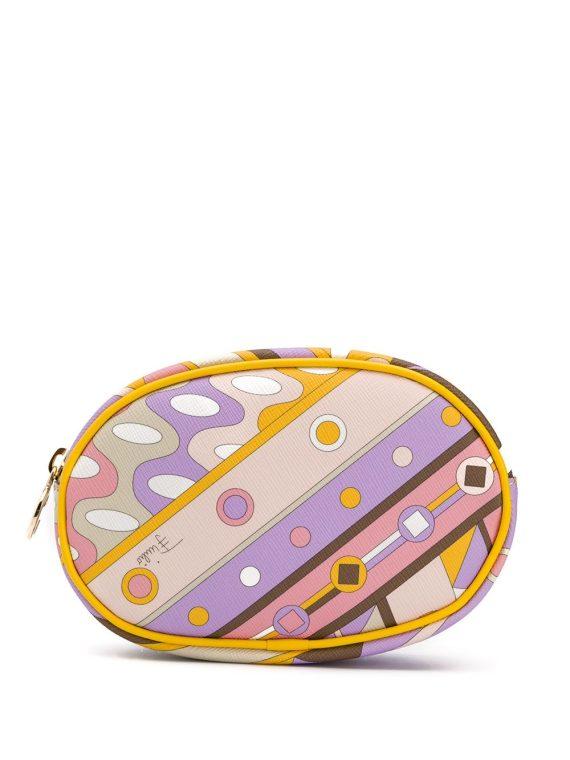 Emilio Pucci abstract-print makeup bag - PURPLE - Emilio Pucci