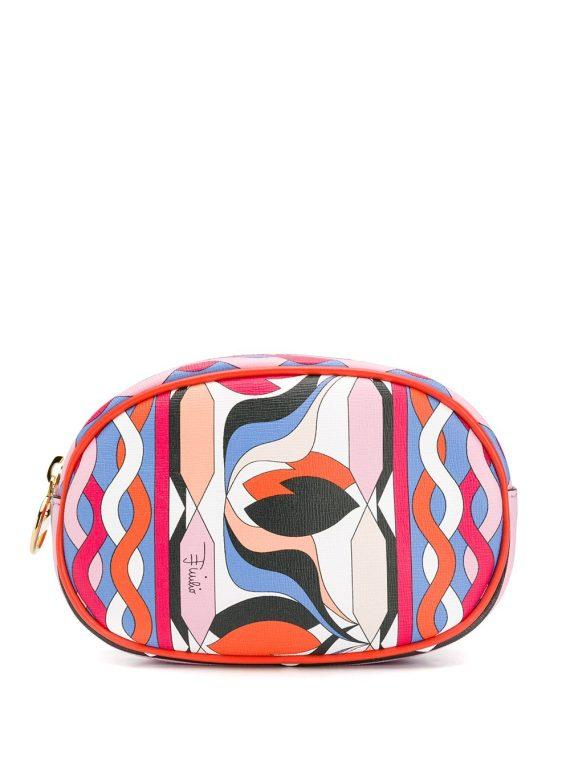 Emilio Pucci printed cosmetic case - ORANGE - Emilio Pucci
