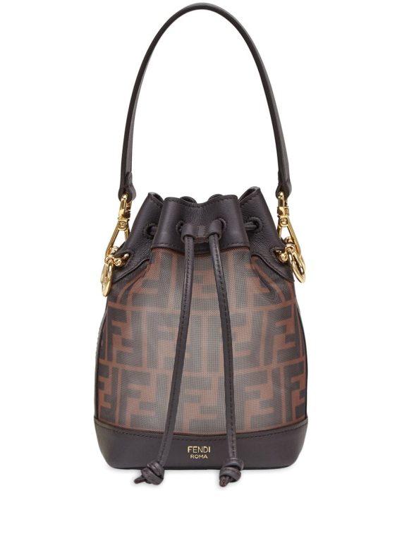 Fendi mini Mon Tresor bucket bag - Brown - Fendi
