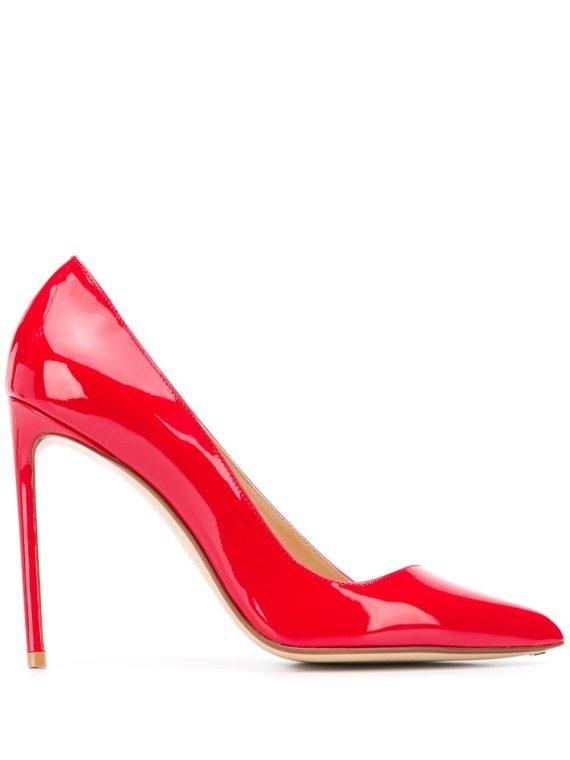 Francesco Russo asymmetric pointed pumps - Red - Francesco Russo