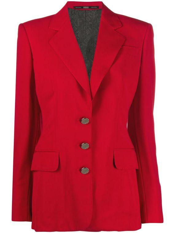 Gianfranco Ferré Pre-Owned 1990s buttoned slim-fit jacket - Red - Gianfranco Ferré Pre-Owned