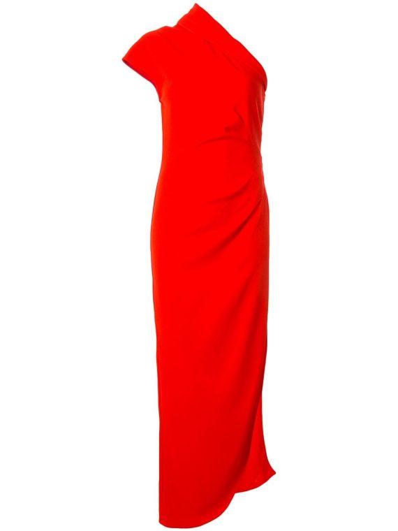 Ginger & Smart Curator one-shoulder gown - Red - Ginger & Smart