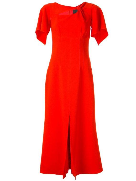Ginger & Smart Curator twist detail dress - Red - Ginger & Smart