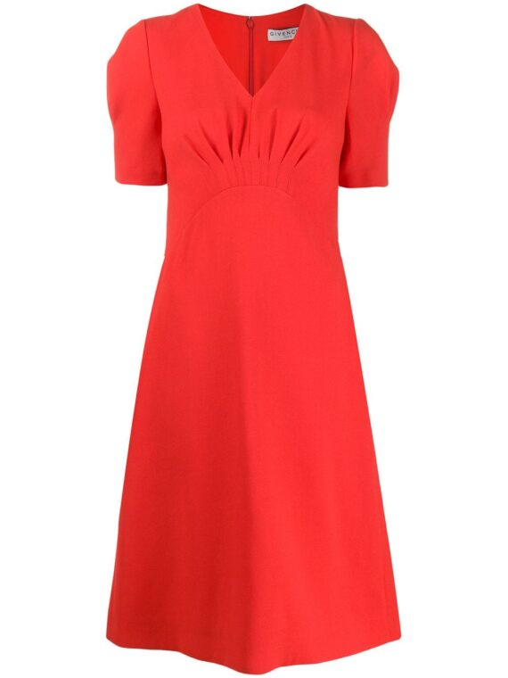 Givenchy puffed sleeves midi dress - Red - Givenchy