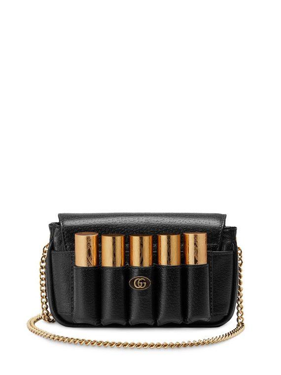 Gucci Double G porte-rouge mini bag - Black - Gucci