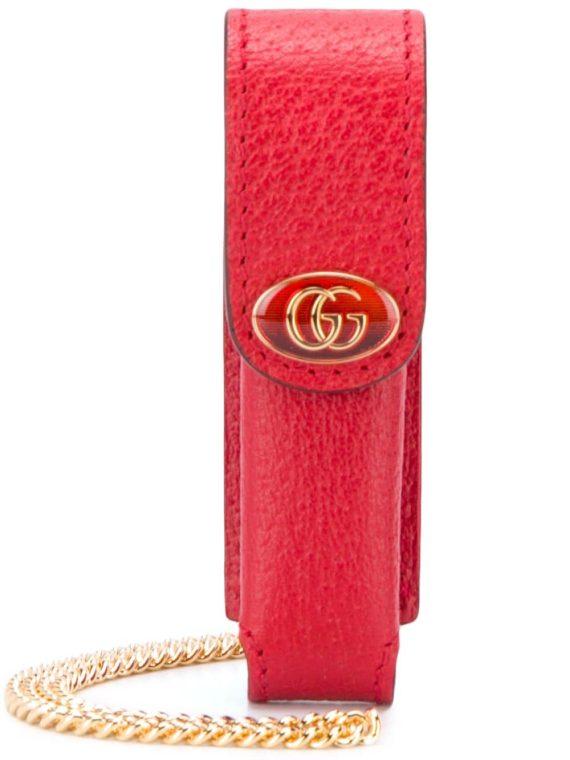 Gucci GG lipstick chain link holder - Red - Gucci