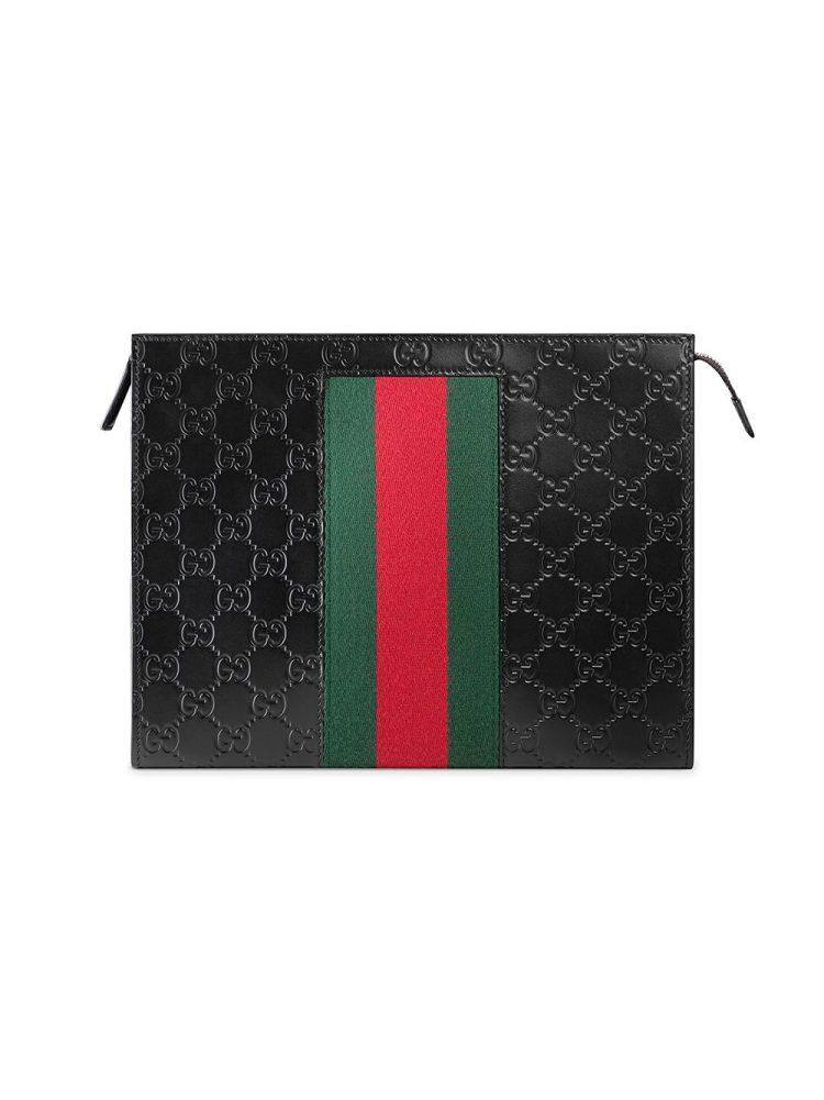 Gucci Gucci Signature Web cosmetic case - Black - Gucci