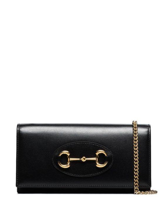 Gucci Horsebit chain wallet bag - Black - Gucci