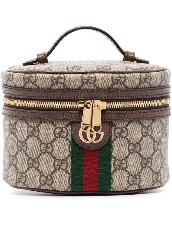 Gucci Ophidia GG Supreme cosmetic case - Neutrals - Gucci