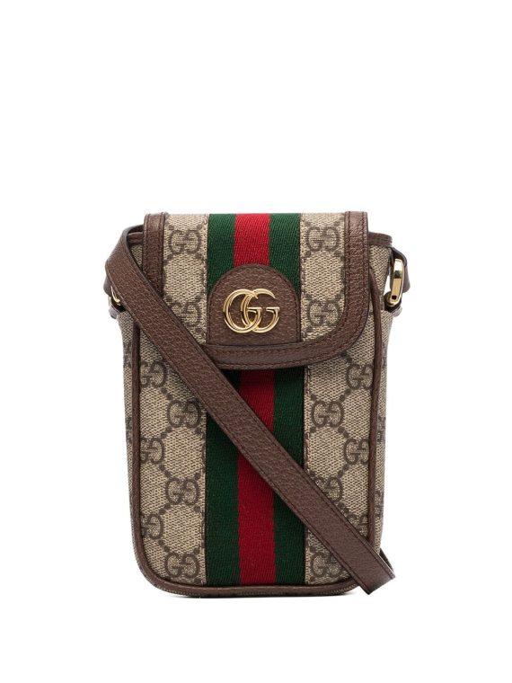 Gucci Ophidia GG Supreme mini bag - Brown - Gucci