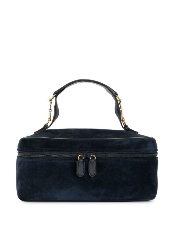 Gucci Pre-Owned horsebit detail cosmetic bag - Blue - Gucci Pre-Owned