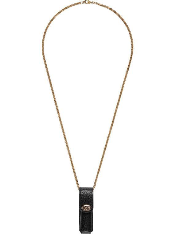 Gucci chain lipstick case - Black - Gucci