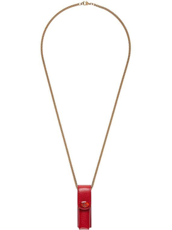 Gucci chain lipstick case - Red - Gucci