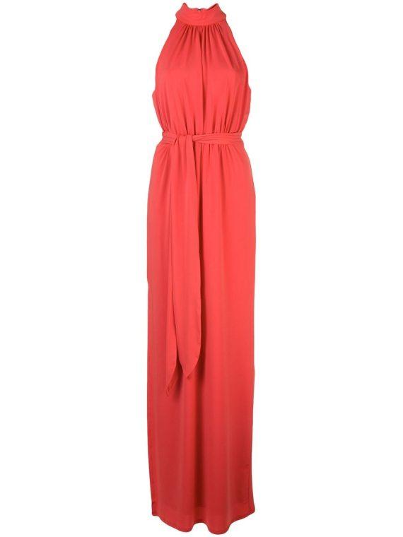 Halston Heritage ruched design dress - Red - Halston Heritage