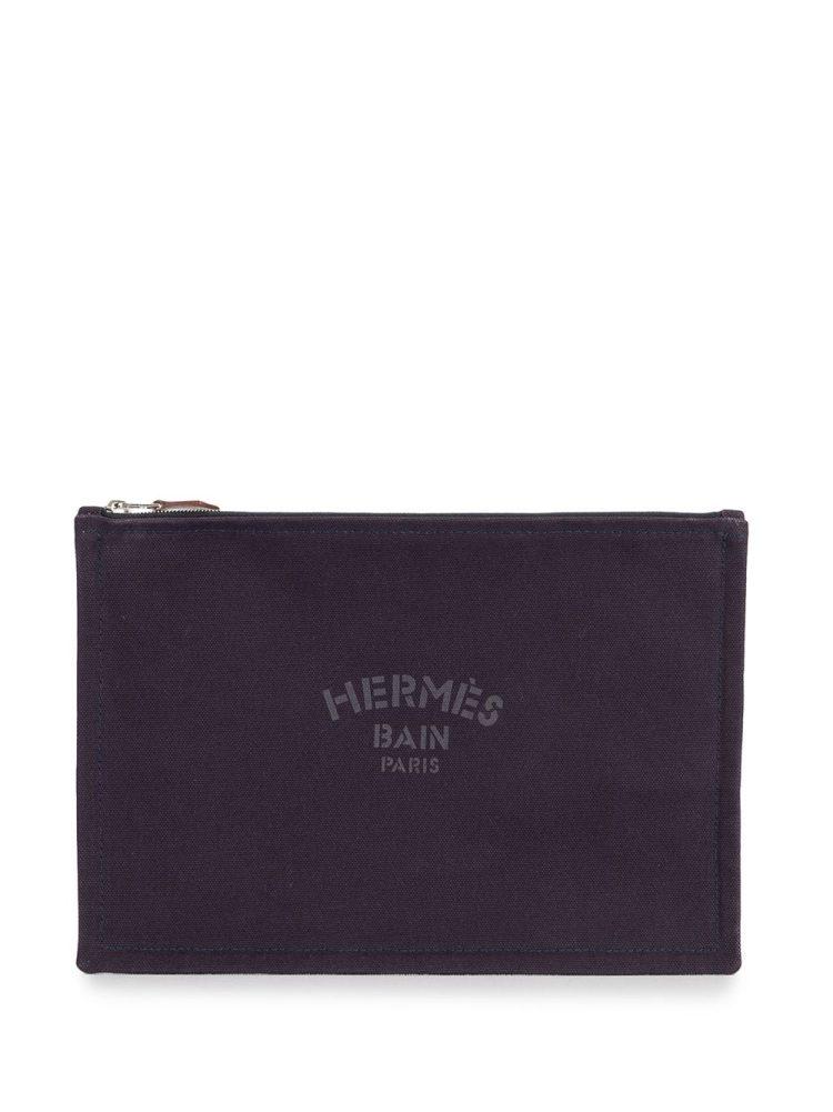 Hermès pre-owned Yachting Pouch GM cosmetic bag - PURPLE - Hermès