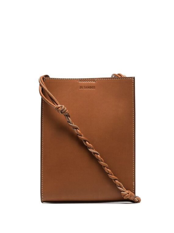 Jil Sander tangle small leather crossbody bag - Brown - Jil Sander