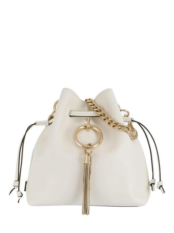 Jimmy Choo Callie bucket bag - White - Jimmy Choo