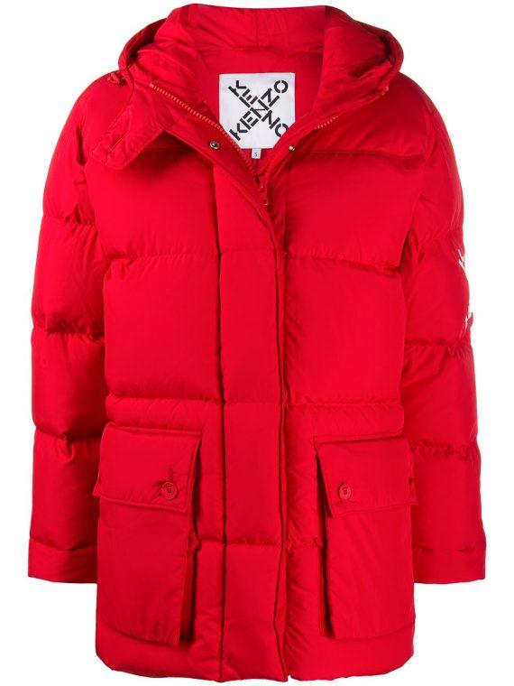 Kenzo Cross Logo puffer jacket - Red - Kenzo