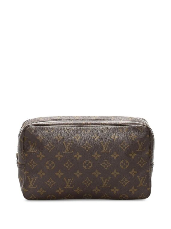 Louis Vuitton pre-owned monogram cosmetic bag - Brown - Louis Vuitton