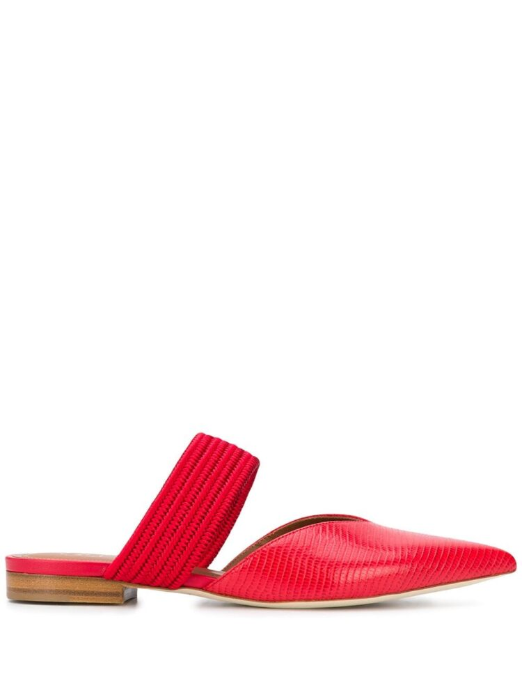 Malone Souliers Maisie 20mm crocodile-effect mules - Red - Malone Souliers
