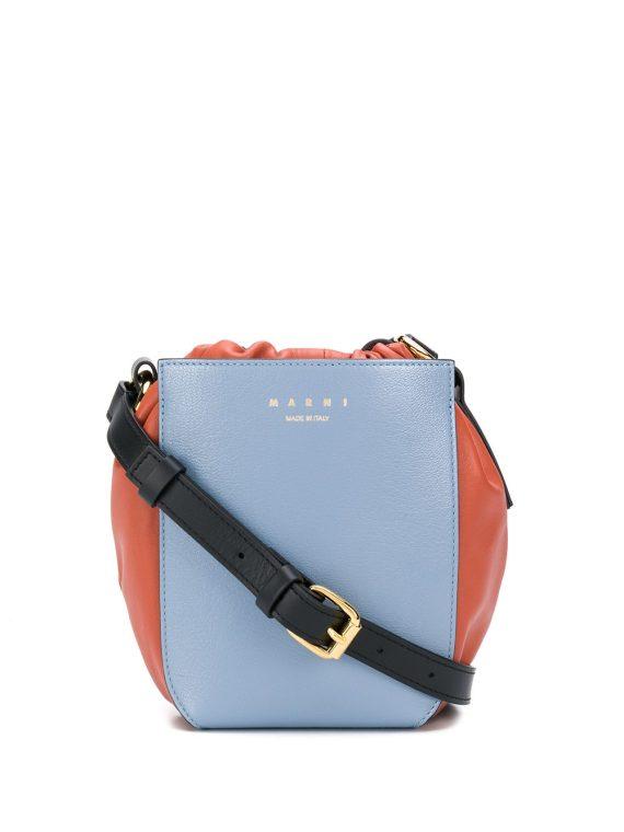 Marni Gusset shoulder bag - Blue - Marni