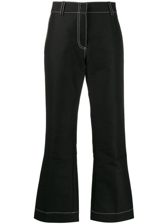 Marni pencil-cut flared trousers - Black - Marni