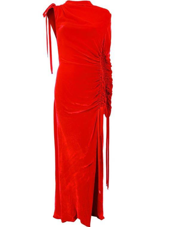 Monse ruched velvet gown - Red - Monse