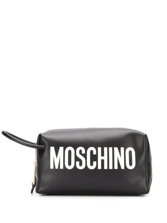 Moschino logo cosmetic case - Black - Moschino