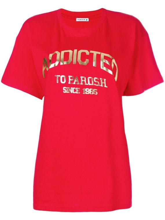 P.A.R.O.S.H. Addicted logo T-shirt - Red - P.A.R.O.S.H.
