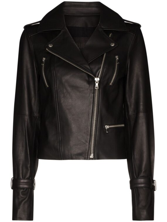 PAIGE Rayven leather biker jacket - Black - PAIGE
