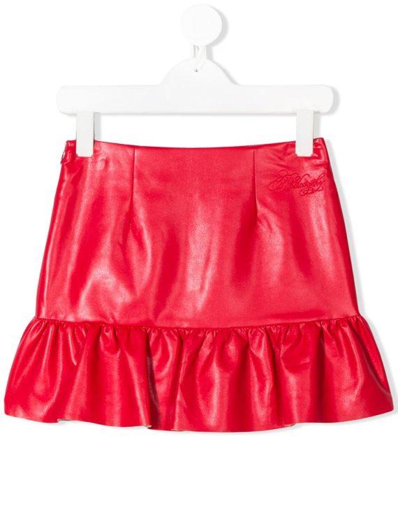 Philosophy Di Lorenzo Serafini ruffle trim mini skirt - Red - Philosophy Di Lorenzo Serafini